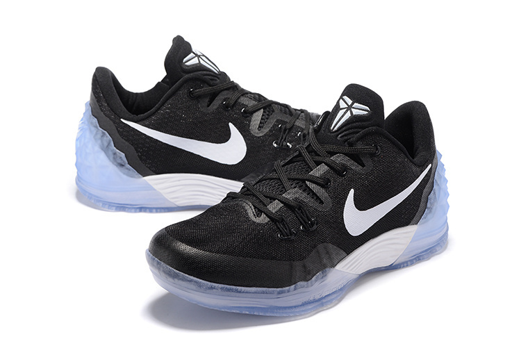 Men Nike Kobe Venomenon 5 Black White Shoes
