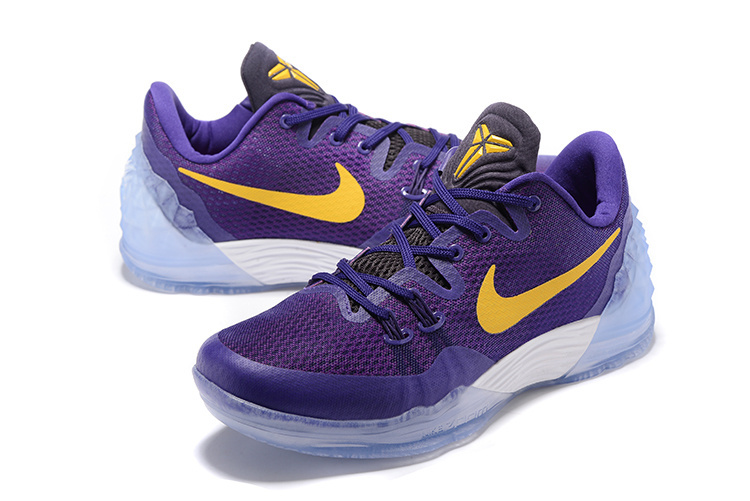 Men Nike Kobe Venomenon 5 Purple Yellow Shoes