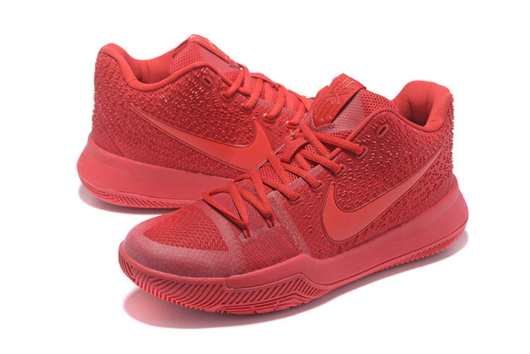 Men Nike Kyrie 3 All Red Shoes
