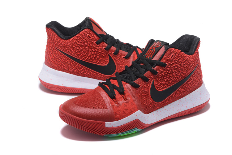 Men Nike Kyrie 3 Red Black White Shoes