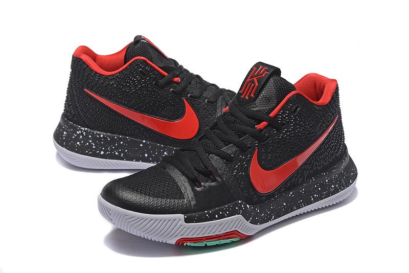 Men Nike Kyrie Irving 3 Black Red Grey