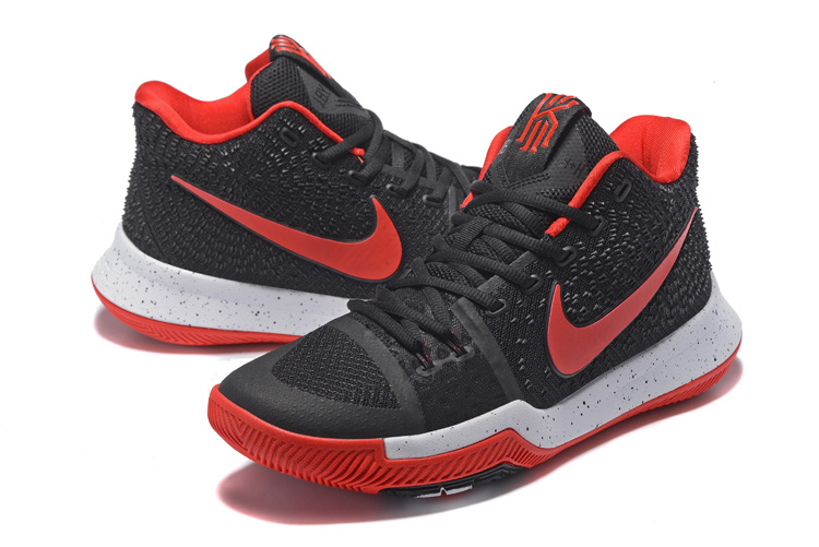 Men Nike Kyrie Irving 3 Black Red White Shoes