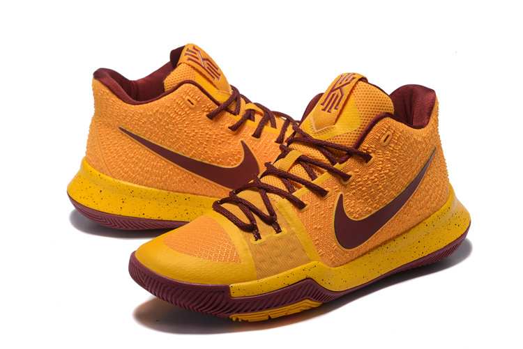 innovative design 0a123 92855 Men Nike Kyrie Irving 3 Yellow Red Shoes