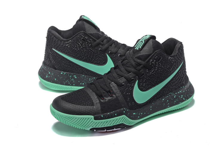 c995ec22946 Men Nike Kyrie Irving 3 Black Green Shoes  NBAKETBALL643  -  82.00 ...