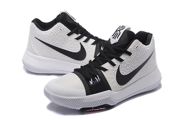 buy online 77d30 9e450 Men Nike Kyrie Irving 3 Black White Shoes