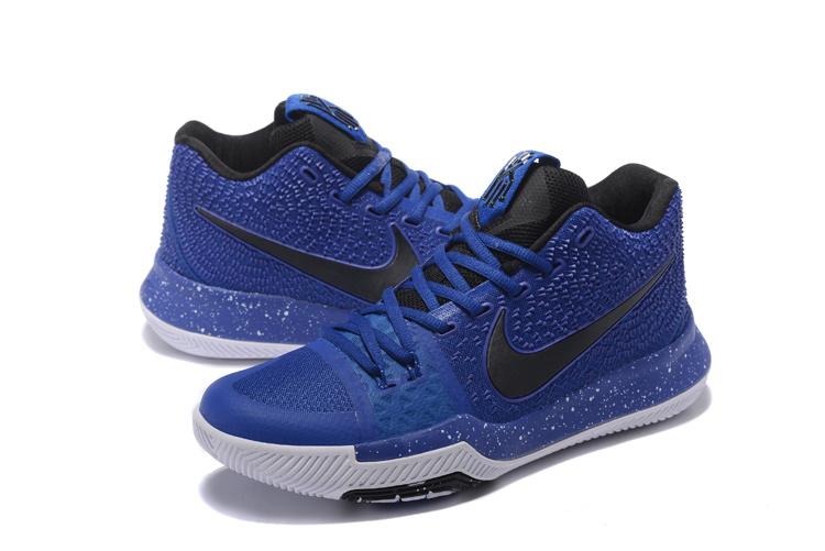 3b6595116e4b Men Nike Kyrie Irving 3 Blue Black White Shoes