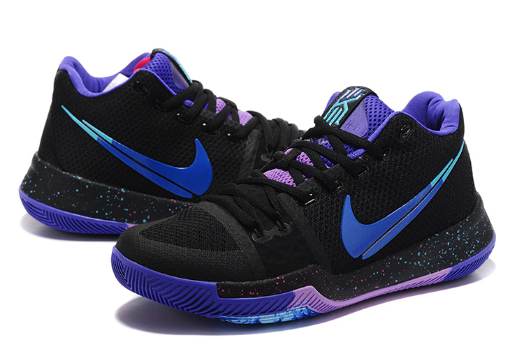 Men Nike Kyrie Irving 3 Fantasy Hook Black Purple Shoes