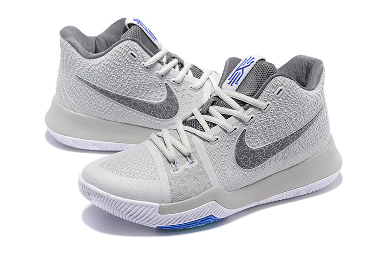 Men Nike Kyrie Irving 3 Grey Blue Shoes