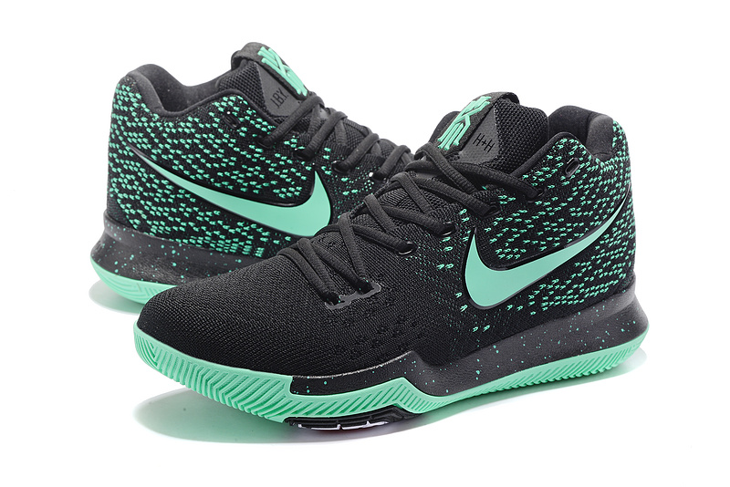 Men Nike Kyrie Irving 3 Knit Black Green Shoes