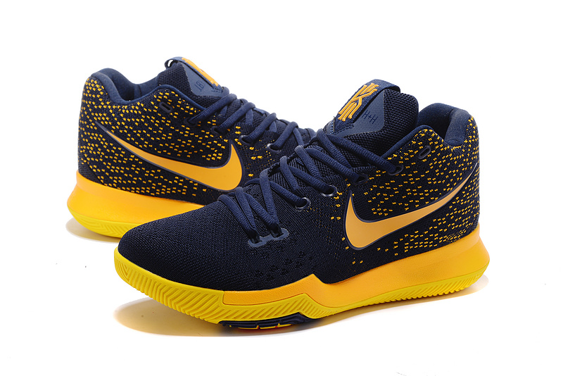 Men Nike Kyrie Irving 3 Knit Black Yellow Shoes