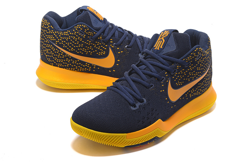 Men Nike Kyrie Irving 3 Knit Blue Yellow Shoes