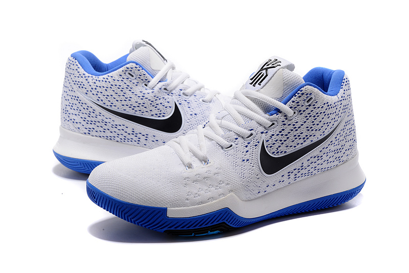 Men Nike Kyrie Irving 3 Knit White Blue Shoes