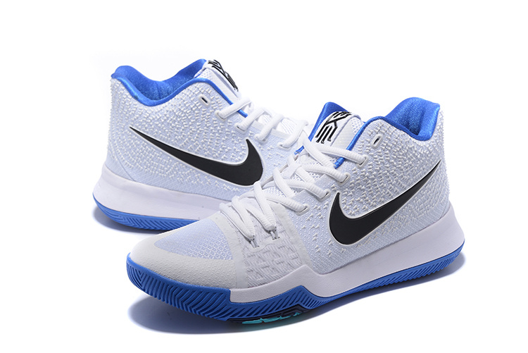 216735deccf0 Men Nike Kyrie Irving 3 White Blue Basketball Shoes