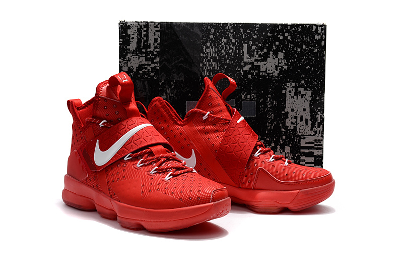 Men Nike Lebron 14 All Red Basketball Shoes
