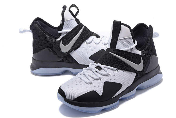 Men Nike Lebron 14 White Black Blue Sole Shoes
