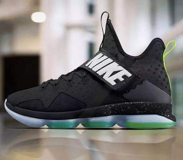 Men Nike Lebron 14 White Black Green Shoes