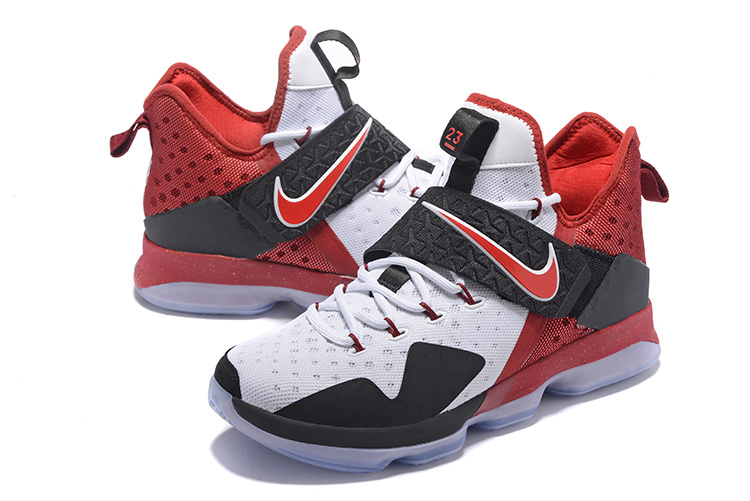 Men Nike Lebron 14 White Black Red Shoes