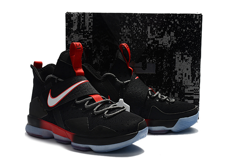 Men Nike Lebron James 14 Black Red Shoes