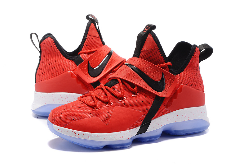 Men Nike Lebron James 14 Red White Black Shoes
