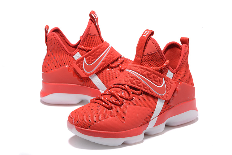 Men Nike Lebron James 14 Red White Shoes