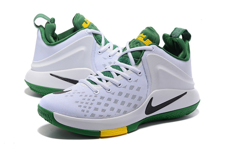 Men Nike Lebron James Zoom Witness EP White Green Shoes