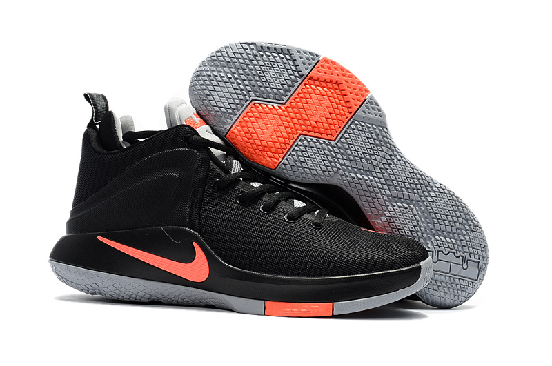 Men Nike Lebron Witness 1 Black Grey Shoes
