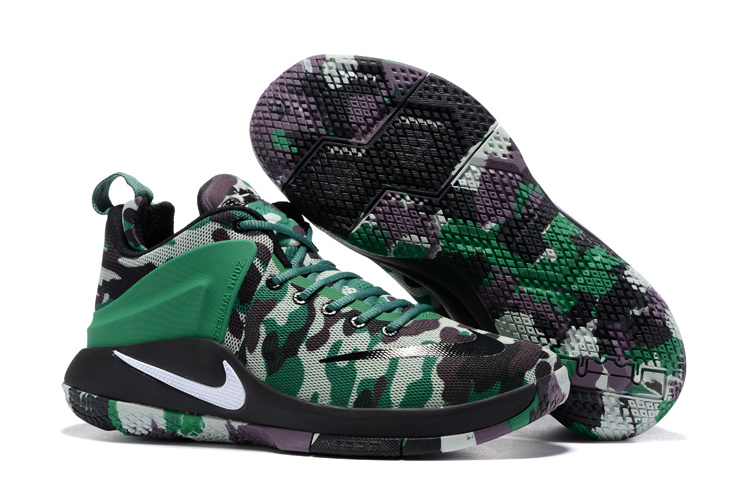 Men Nike Lebron Witness 1 Camouflage Green Shoes