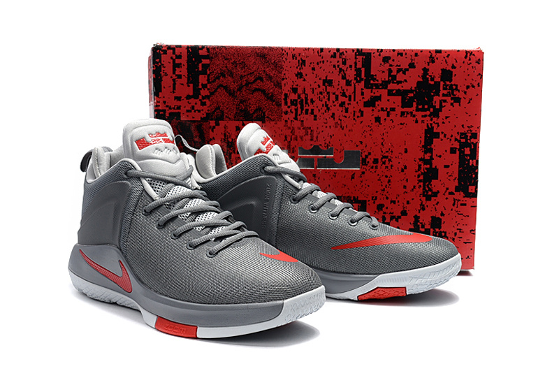 Men Nike Lebron Witness 1 Cement Red Shoes
