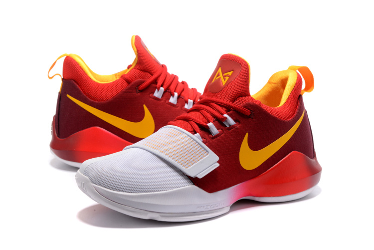 Men Nike PG 1 Red White Yellow Shoes