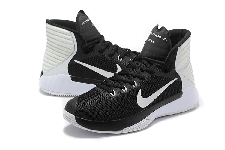 Men Nike Prime HYPE OF 2016 Black White Basketball Shoes