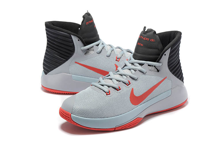 Men Nike Prime HYPE OF 2016 Grey Red Black Basketball Shoes