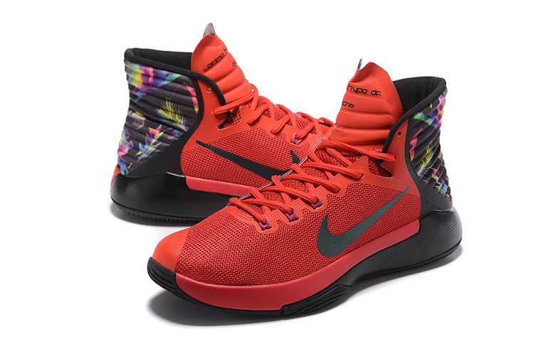 Men Nike Prime HYPE OF 2016 Red Black Basketball Shoes