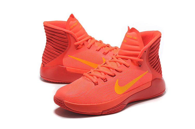 Men Nike Prime HYPE OF 2016 Reddish Orange Basketball Shoes