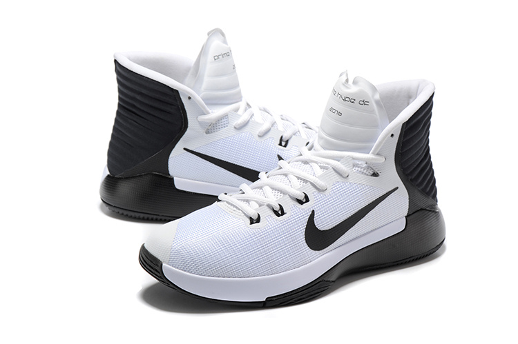 Men Nike Prime HYPE OF 2016 White Black Basketball Shoes