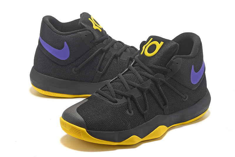Men Nike Trey 6 Black Yellow Blue Basketball Shoes
