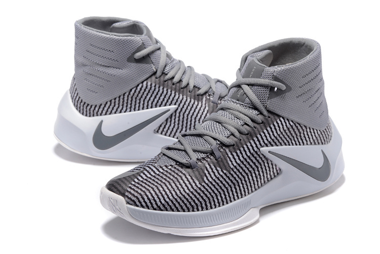 Men Nike Zoom Clear Out Wolf Grey Basketball Shoes