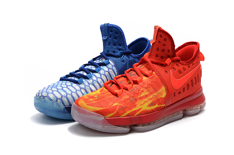 Men Nike Zoom KD 9 EP Orange Blue Shoes
