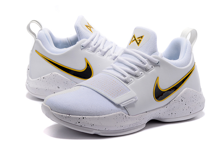 Men Nike Zoom PG 1 Whihte Yellow Black Shoes