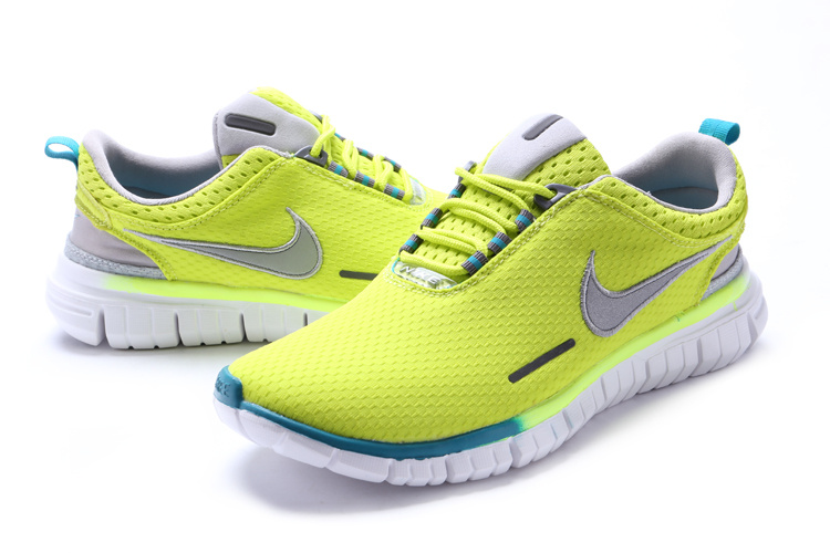 Nike Free OG 2014 Running Shoes Fluorscent Green White