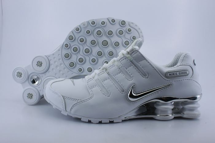 Nike Shox NZ Shoes All White Black Swoosh