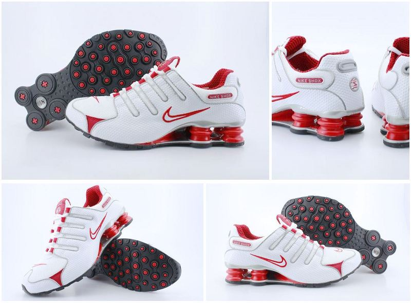 Nike Shox NZ Shoes White Red Swoosh