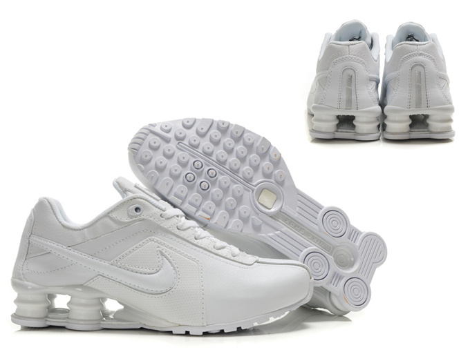 Nike Shox R4 Shoes All White Big Swoosh
