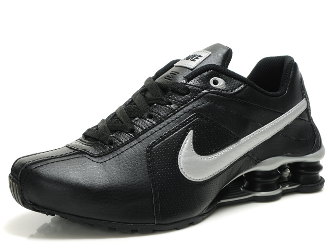 Nike Shox R4 Shoes Black Grey Big Swoosh