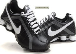 Nike Shox R4 Shoes Black White Big Swoosh