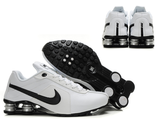 Nike Shox R4 Shoes Black White Swoosh