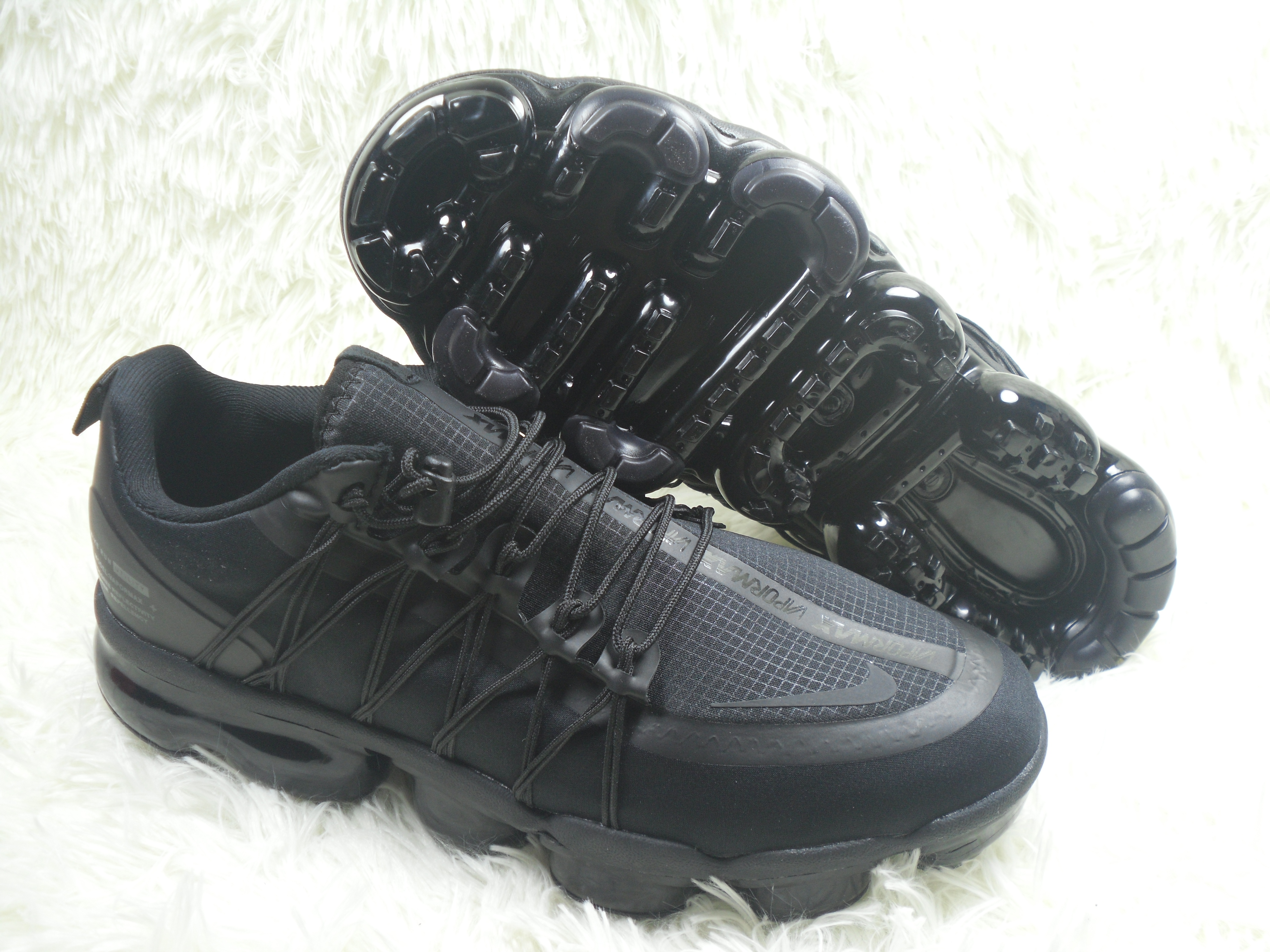 NIKE SP W Air VaporMax Run Utlty All Black Shoes