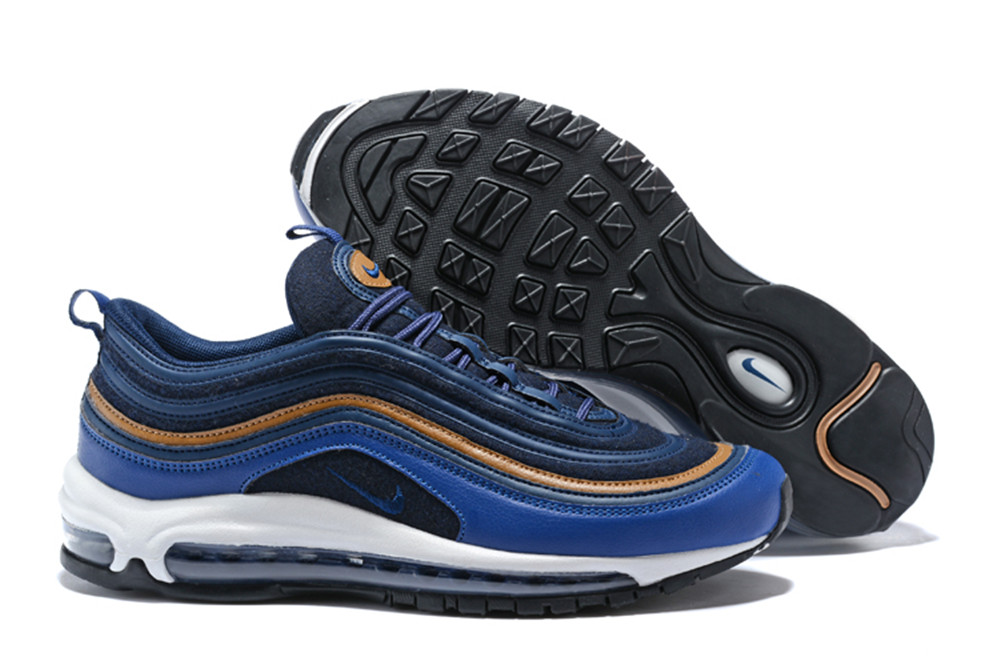 NIKE W AIR MAX 97 Bullet Blue Yellow Shoes