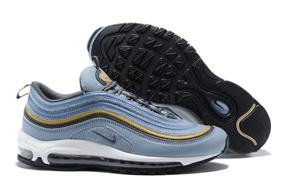 NIKE W AIR MAX 97 Bullet Jade Blue Gold Shoes