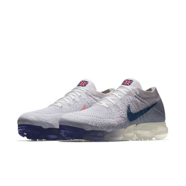 New 2018 Nike Air VaporMax England Flag White Blue