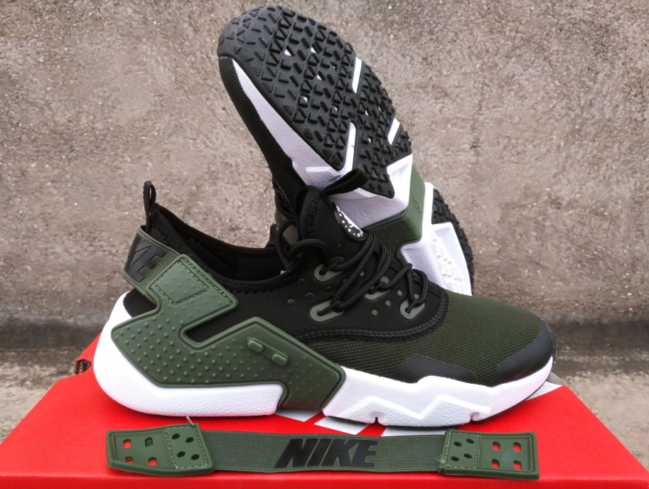 best sneakers 04897 ee958 New Nike Air Huarache 6 Army Green Black Shoes